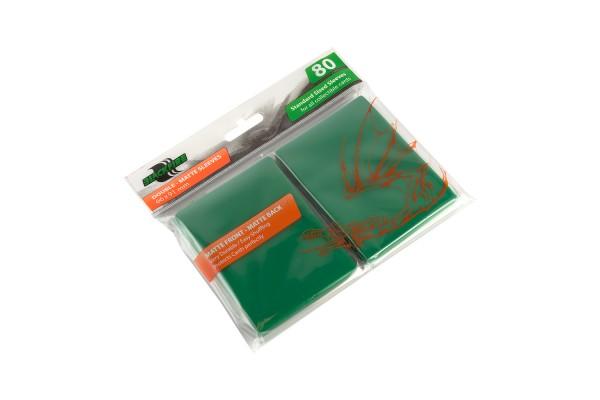 Протекторы Blackfire Double-Matte для ККИ - Зелёные (80 шт.)