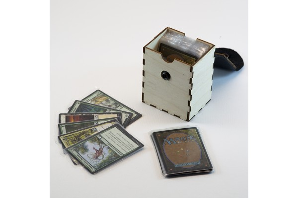 Коробочка для карт MTG (фанера/кожа)